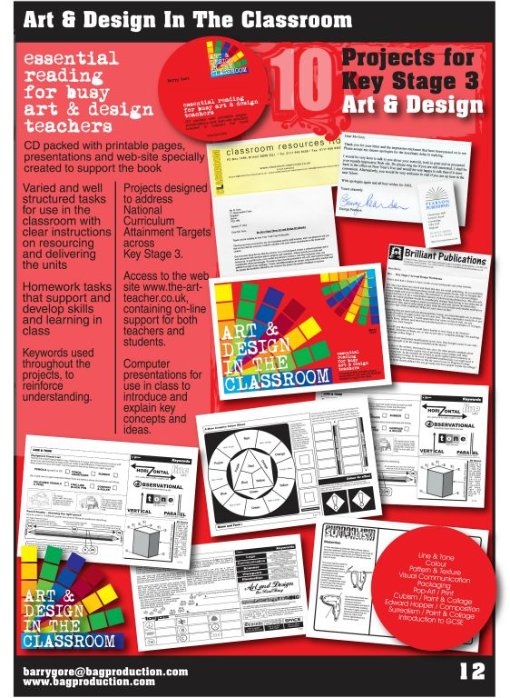 Art & Design In The Classroom, a 128 page booklet for art teachers